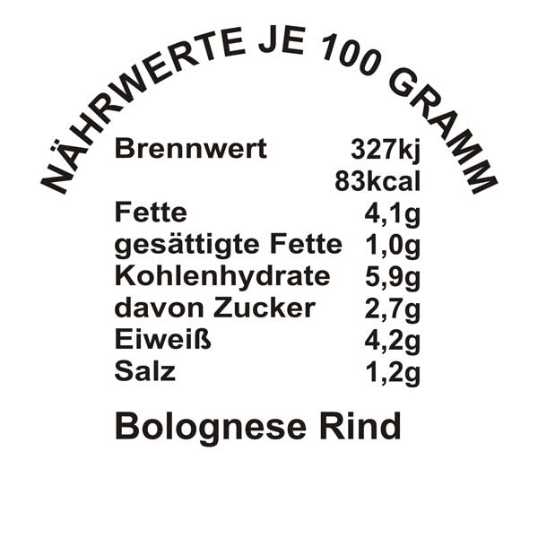 Bolognese-Rind