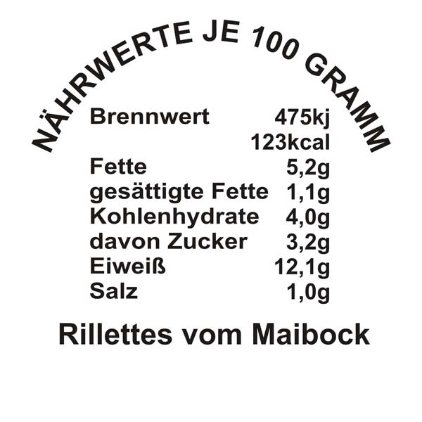Rillettes-Maibock